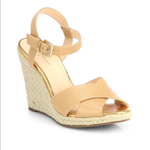 20afbd4962a Cole Haan Shoes - ⬇️Cole Haan (Hart) Tan Espadrille Wedge Sandal